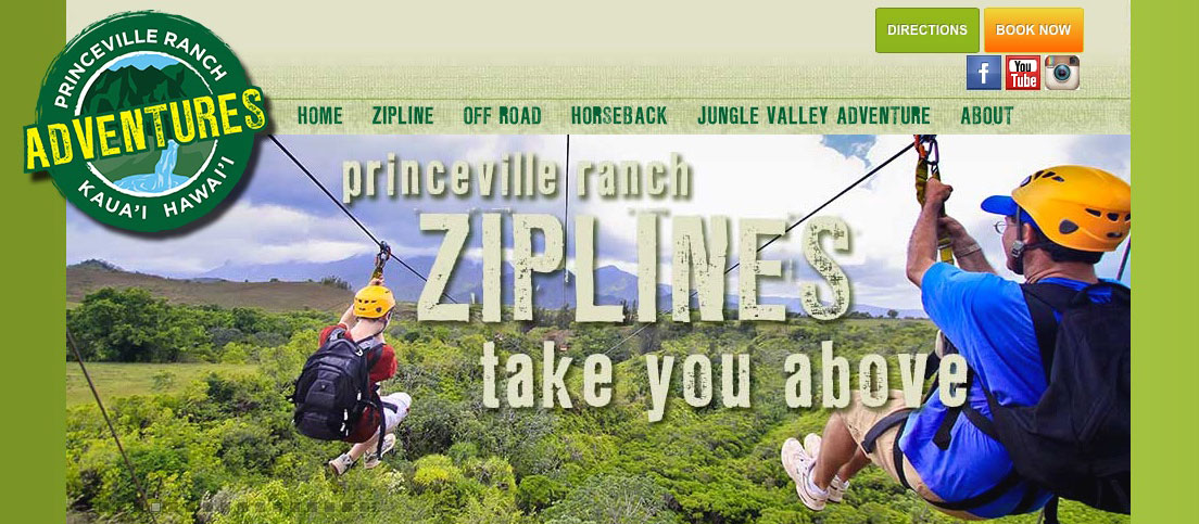 Princeville Ranch Adventures Website